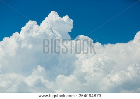 Blue Sky, Beautiful Massive, Bright White Clouds.