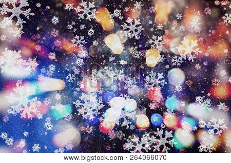 Abstract Bokeh Background. Christmas Glittering Background. Abstract Christmas Background. Glitterin