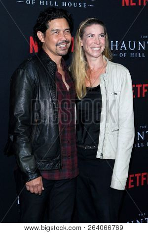 LOS ANGELES - OCT 8:  Anthony Ruivivar, Yvonne Jung at the