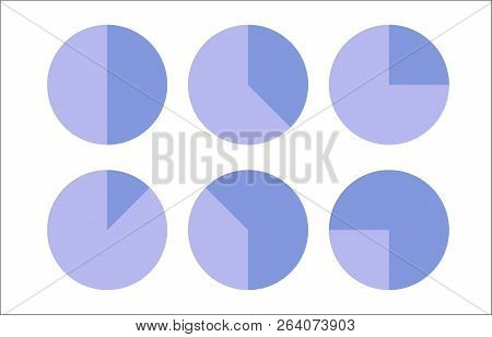 Vector Pie Chart Business Templates For Presentation With Percents.