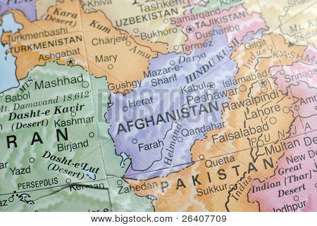 Macro Globe Map Detail 11 Afghanistan