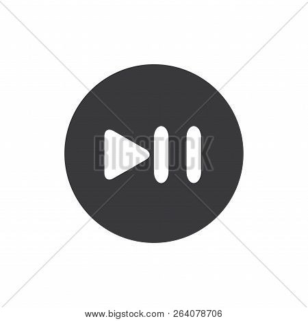 Pause Play Button Vector Icon On White Background. Pause Play Button Icon In Modern Design Style. Pa