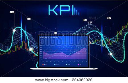 Kpi (key Performance Indicators), Business Analytics Concept, Metrics To Measure Achievement Versus
