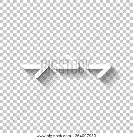 Few Arrows, Same Direction. Linear, Thin Outline. White Icon Wit
