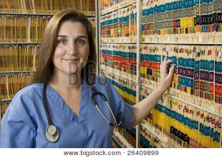 Attractive female nurse doctor health care professional