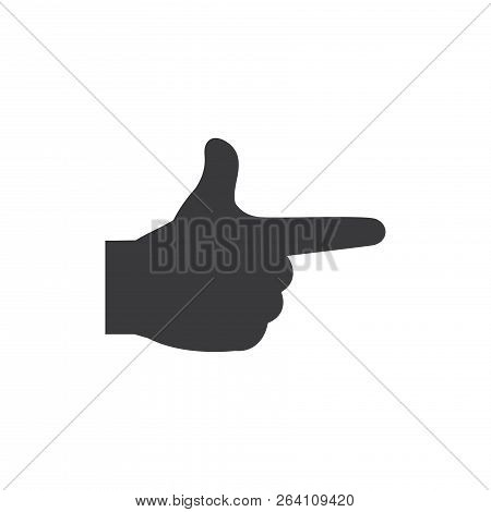Finger Gun Vector Icon On White Background. Finger Gun Icon In Modern Design Style. Finger Gun Vecto