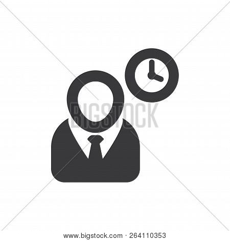 Project Manager Vector Icon On White Background. Project Manager Icon In Modern Design Style. Projec