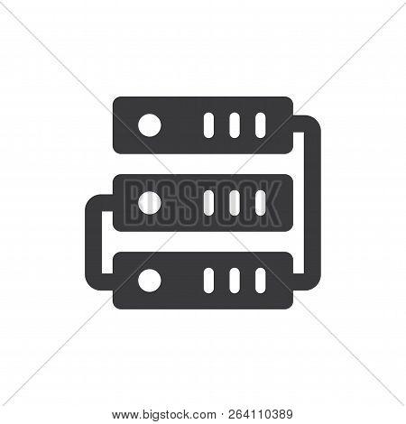 Web Hosting Vector Icon On White Background. Web Hosting Icon In Modern Design Style. Web Hosting Ve