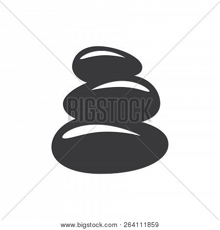 Zen Stones Vector Icon On White Background. Zen Stones Icon In Modern Design Style. Zen Stones Vecto