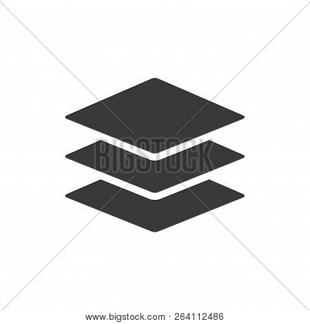 Layers Vector Icon On White Background. Layers Icon In Modern Design Style. Layers Vector Icon Popul