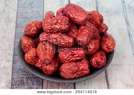 Dried jujube ,The fruit is a traditional Chinese herb , Chinese jujube dry.Jujube, poster