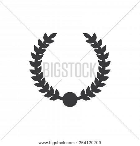 Wreath Award Vector Icon On White Background. Wreath Award Icon In Modern Design Style. Wreath Award