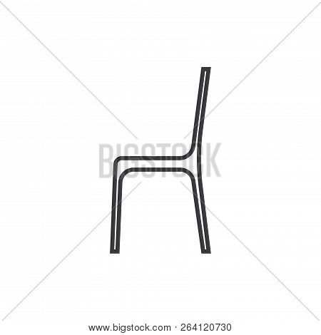 Chair Vector Icon On White Background. Chair Icon In Modern Design Style. Chair Vector Icon Popular