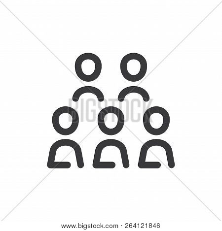 Company Workers Vector Icon On White Background. Company Workers Icon In Modern Design Style. Compan