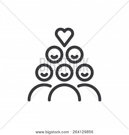 People Vector Icon On White Background. People Icon In Modern Design Style. People Vector Icon Popul