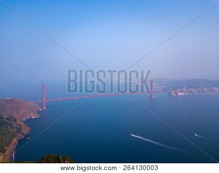 San Francisco Golden Gate Hills Aerial View