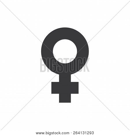 Female Vector Icon On White Background. Female Icon In Modern Design Style. Female Vector Icon Popul