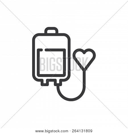 Blood Donation Vector Icon On White Background. Blood Donation Icon In Modern Design Style. Blood Do