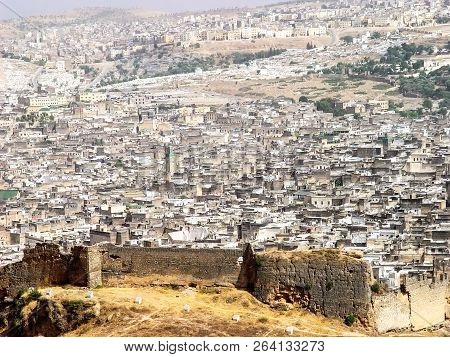 Ruins Of The Walls Of The Old City Of Fez. Morocco