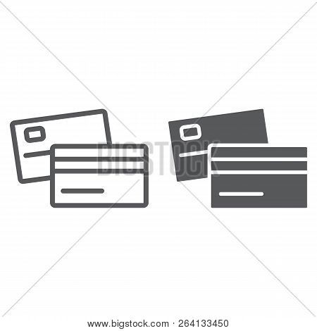 Swipe Credit Card Line And Glyph Icon, Bank And Transaction, Pay Sign, Vector Graphics, A Linear Pat