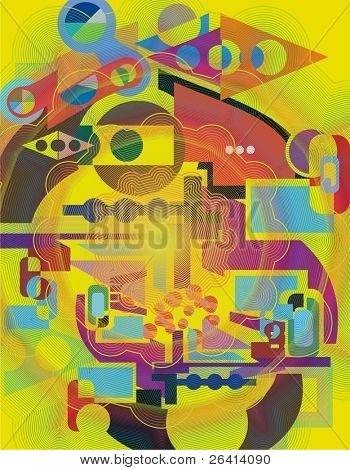 abstract vector illustration,vibrant colors