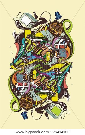 abstract complex illustration