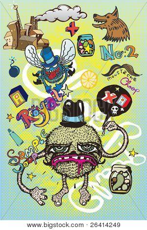 funny cartoon figures & graphic elements