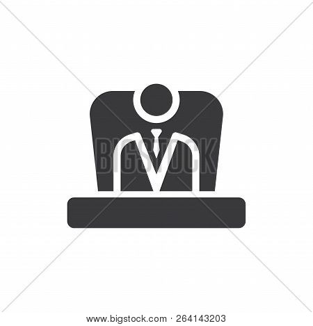 Boss Vector Icon On White Background. Boss Icon In Modern Design Style. Boss Vector Icon Popular And