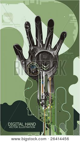 vector illustration of cybernetic hand
