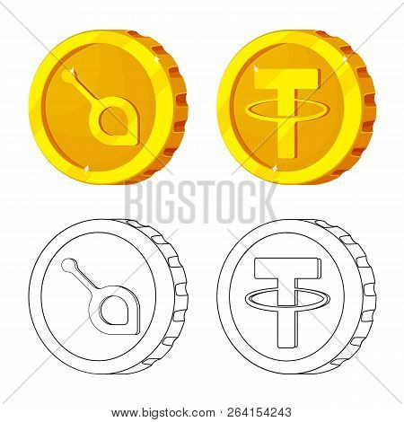 Vector Illustration Of Cryptocurrency And Coin Logo. Collection Of Cryptocurrency And Crypto Stock V