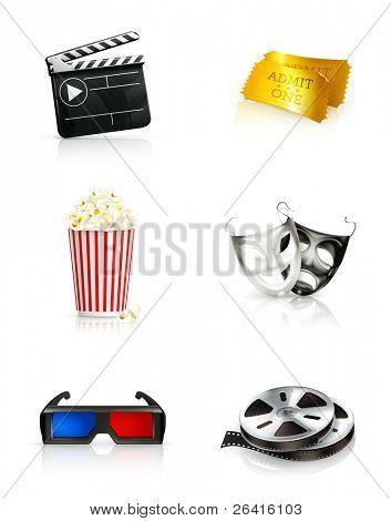 Film, vector icon set