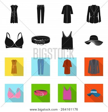 Vector Design Of Woman And Clothing Sign. Collection Of Woman And Wear Stock Vector Illustration.