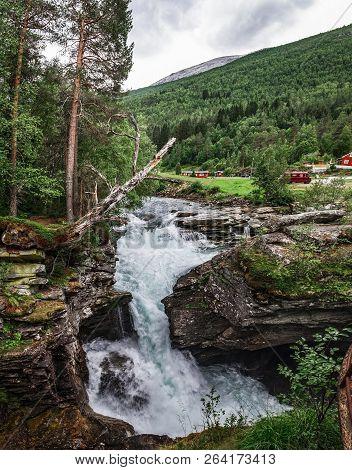 Gudbrandsjuvet Gorge Is Beautifully Located In Valldalen Valley Between Valldal And Trollstigen, Wit