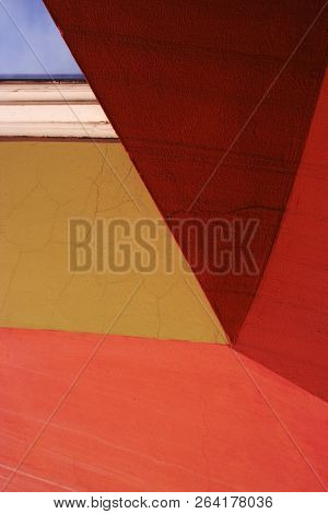 A Detail Of Frontage Of A House, Colorful Abstract