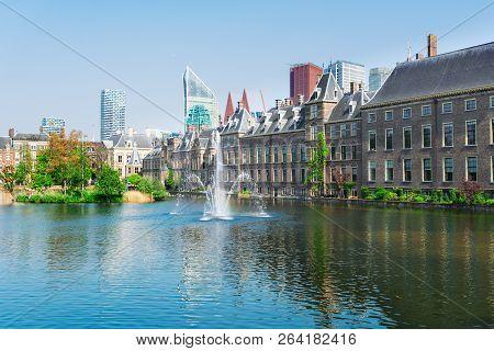 View Of Binnenhof - Dutch Parliament At Spring, The Hague, Holland