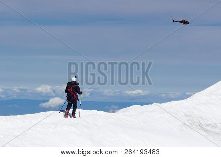 Switzerland - Helicopter Touring The Snow Peaked Mountain Range