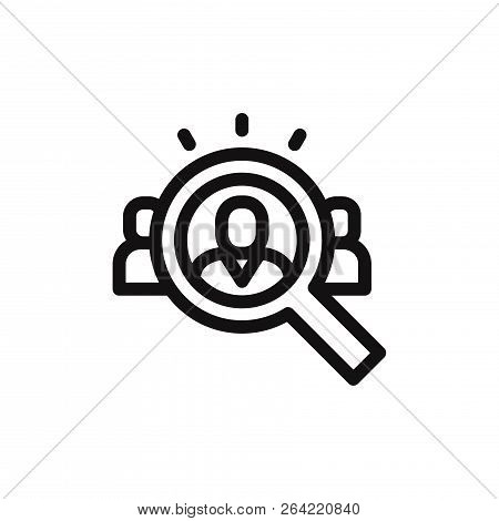 Human Resources Icon Isolated On White Background. Human Resources Icon In Trendy Design Style. Huma