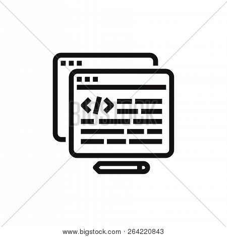 Html Icon Isolated On White Background. Html Icon In Trendy Design Style. Html Vector Icon Modern An