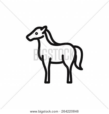 Horse Icon Isolated On White Background. Horse Icon In Trendy Design Style. Horse Vector Icon Modern