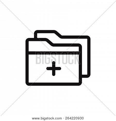 Add Folder Icon Isolated On White Background. Add Folder Icon In Trendy Design Style. Add Folder Vec