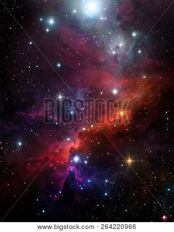 Abstract, Astronomy, Background, Beautiful Background, Starry Sky, Black, Clouds, Colorful Nebula, C