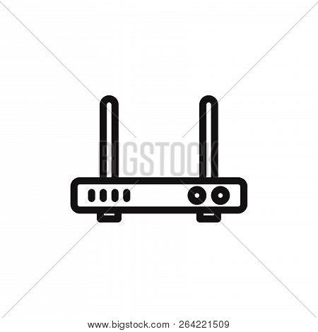 Wifi Modem Icon Isolated On White Background. Wifi Modem Icon In Trendy Design Style. Wifi Modem Vec