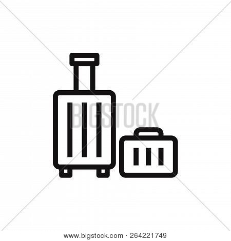 Luggage Icon Isolated On White Background. Luggage Icon In Trendy Design Style. Luggage Vector Icon