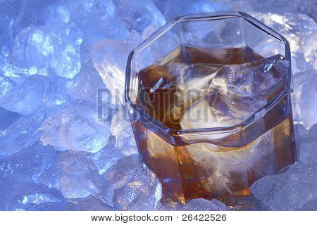 brandy glass in ice