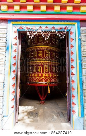 Prayer Wheels In Ngawal Village, Annapurna Conservation Area, Nepal