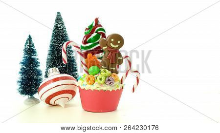 On Trend Candy Land Festive Christmas Cupcakes.