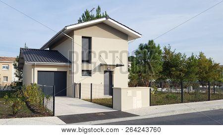 Exterior Facade Of A New Modern Style Home