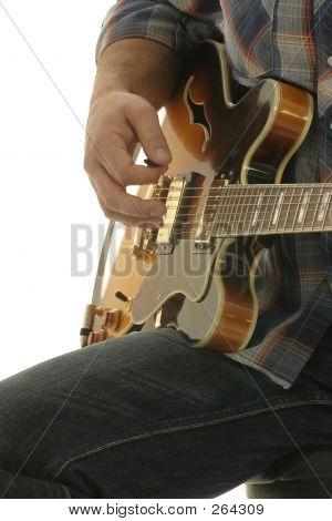 Close Up Guitar Player