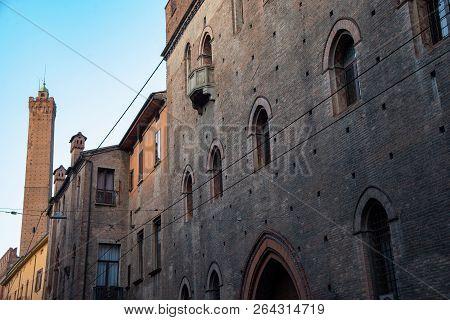 Palazzo Pepoli, Home Of The Museum Of History Of Bologna, Italy. Palazzo Pepoli Vecchio, The Ancient