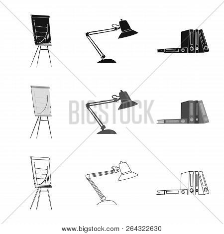 Isolated Object Of Furniture And Work Sign. Set Of Furniture And Home Vector Icon For Stock.